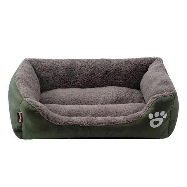 Cosy dog bed with memory-foam mattress-Sleeping-Alfy & Co-Green-S-Alfy & Co