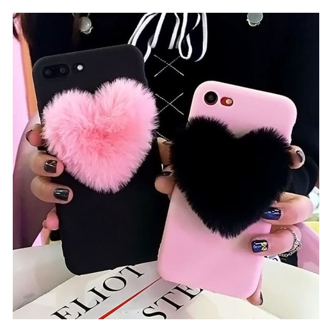 ... Fluffy Heart iPhone Case - Elarah - Clothes For Women That Like  Missguided And Online Fashion a572693af