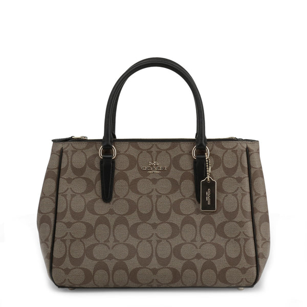 Coach Handbag in Signature Canvas Brown F67026