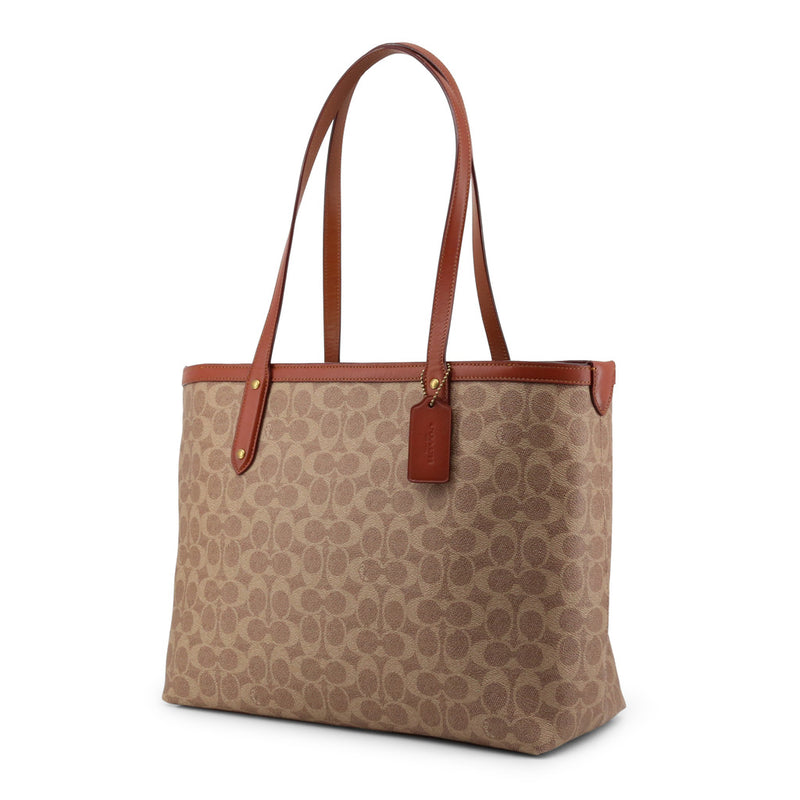 Coach Brown Tote Bag in Signature Canvas 69422