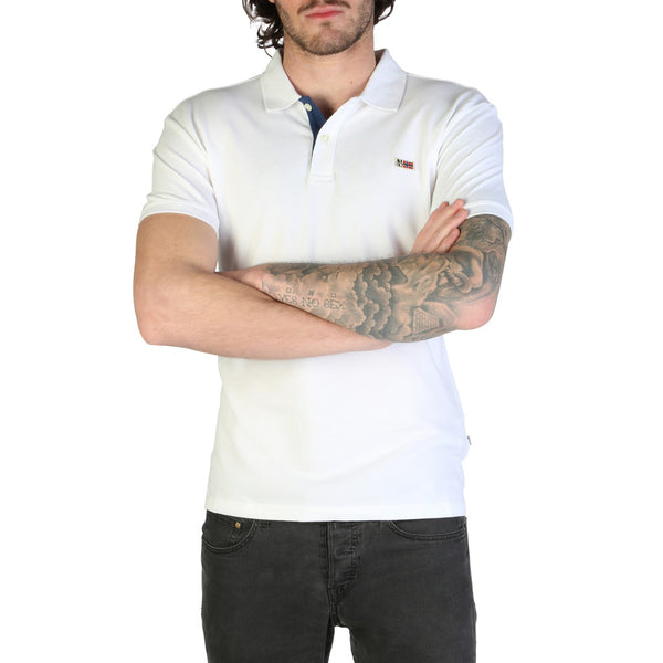 Napapijri Polo White  TALY-STRETCH-N0YIJI