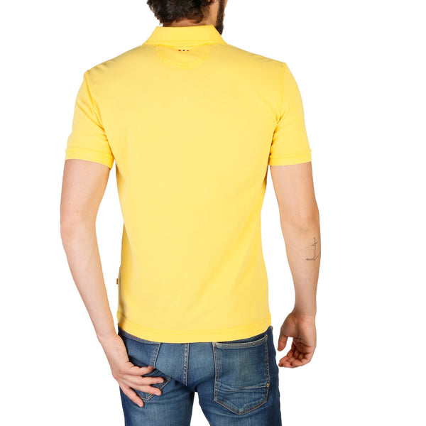 Napapijri Mens Polo Yellow N0YHDX