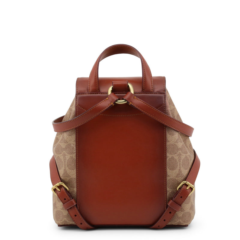 Coach Brown Backpack in Signature Canvas 69523