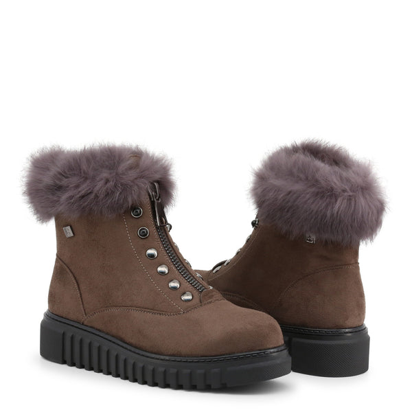 Laura Biagiotti Ankle Boots Brown - 5873-19_MICRO-FUR