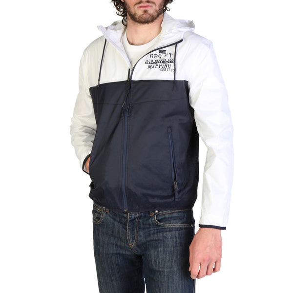 Napapijri Jacket Black and White AEBAC N0YIL2