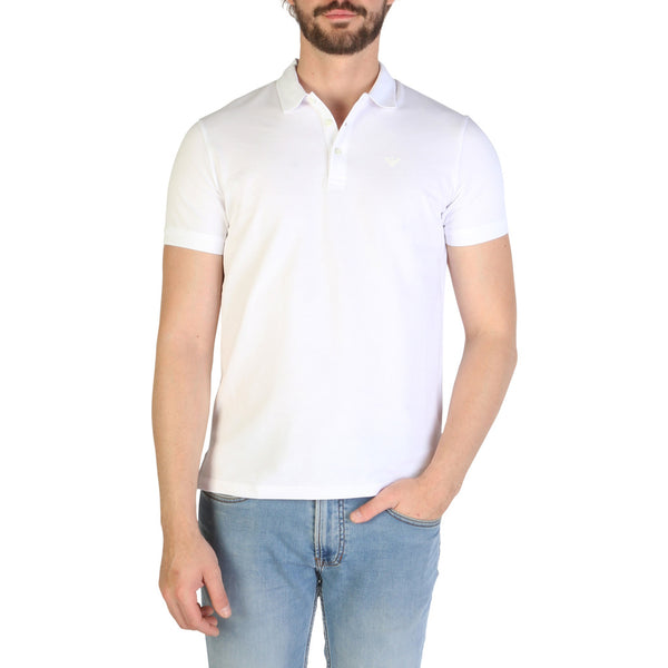 Emporio Armani Men's Polo 8N1F12 White