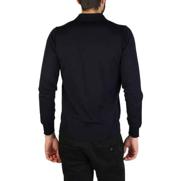 Emporio Armani Men's Long Sleeve Polo Blue 01M65M_0167M