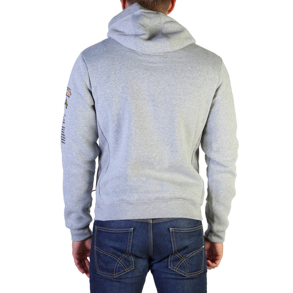Geographical Norway Men's Hoodie Grey Gymclass007_man