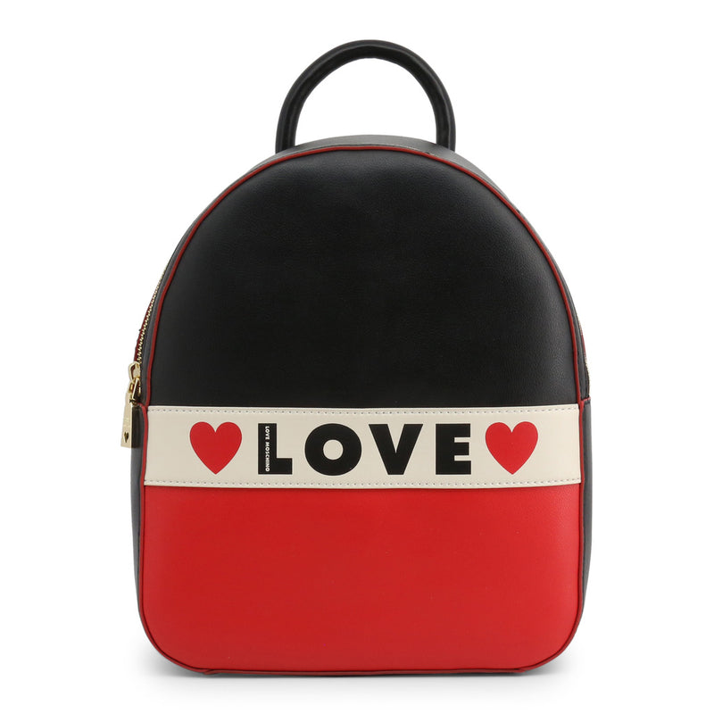 Love Moschino Backpack Black and Red JC4229PP08KD
