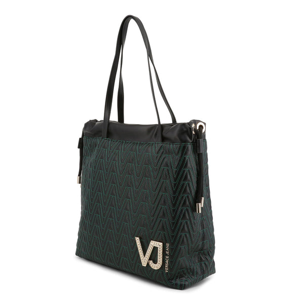 Versace Jeans Green Black Tote Bag E1VSBBI3_70784