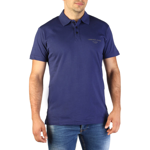 Versace Jeans Men's Polo Shirt B3GTB7P7-36610 Blue