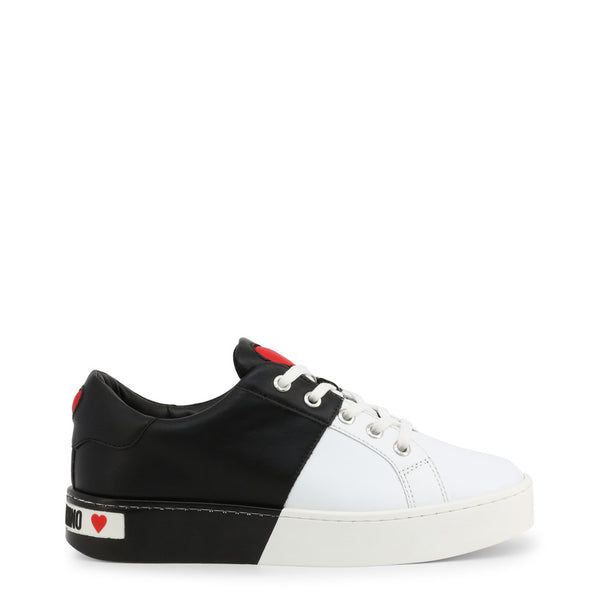 Love Moschino Women's Trainers Black White JA15013G1AIF