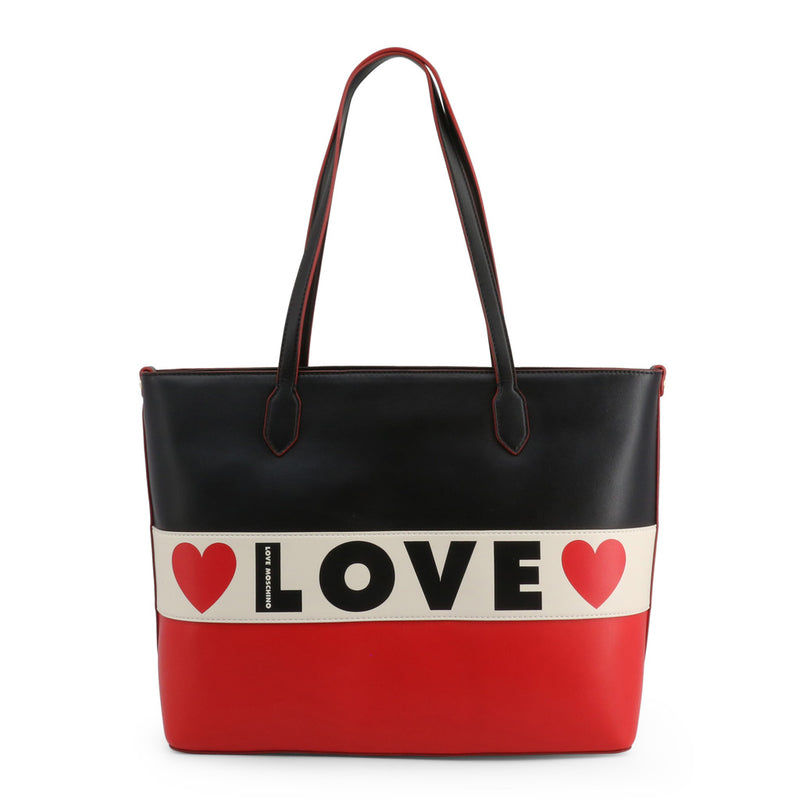Love Moschino Tote Bag Black and Red JC4228PP08KD