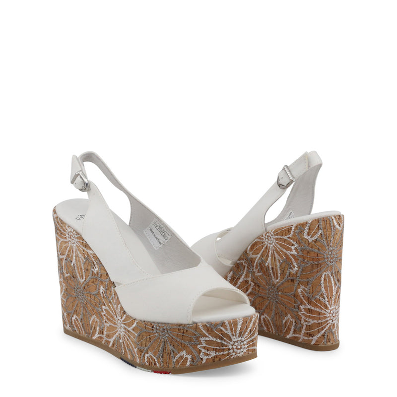 US Polo ASSN White Wedges GOLDY4072S9_T1