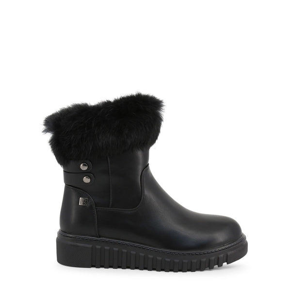 Laura Biagiotti Ankle Boots Black 5875-19_CALF-FUR