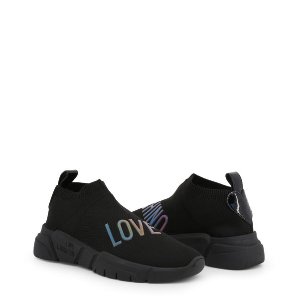 Love Moschino Women's Sock Trainers Black JA15343G18IW