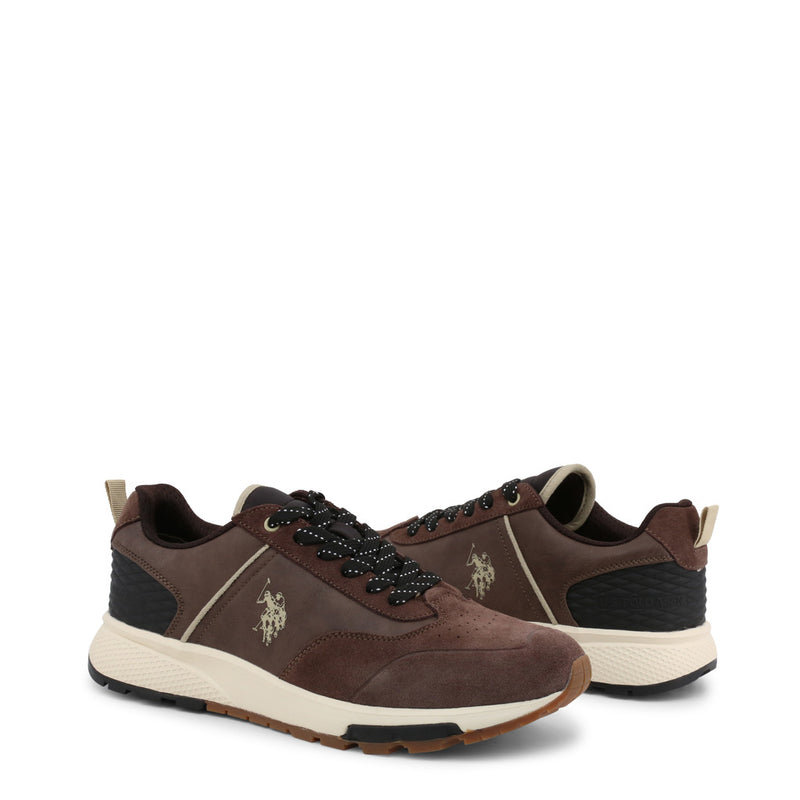 U.S. Polo Assn. Men's Trainers Brown AXEL4120W9_SY1