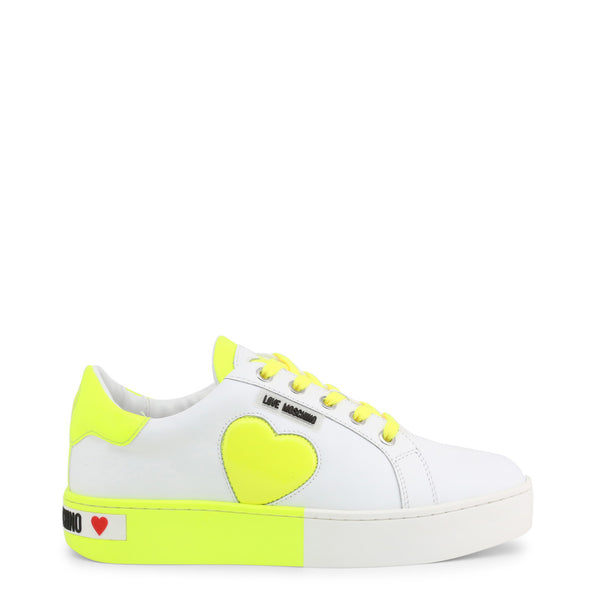 Love Moschino Women's Trainers White Green JA15023G1AIF