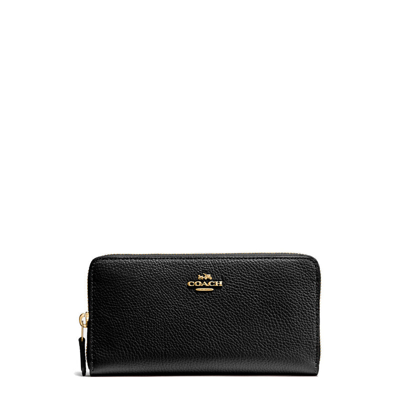 Coach Leather Wallet Black 58059