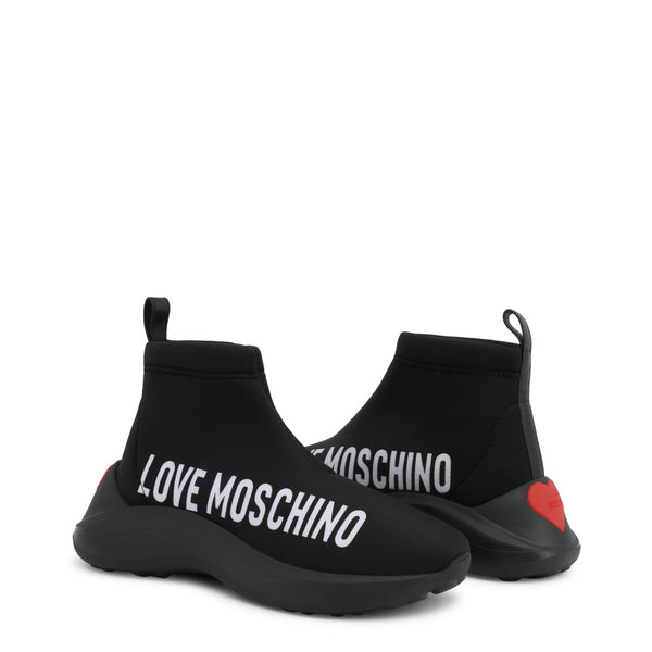 Love Moschino Women's Sock Trainers Black JA15216G18IO