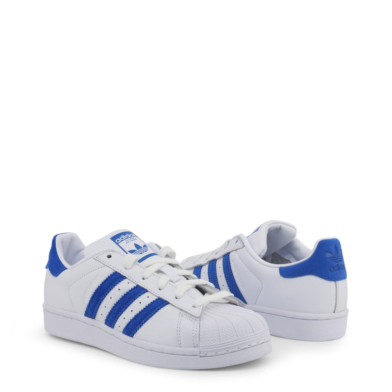 Adidas Superstar Unisex Trainers White and Blue EE4474