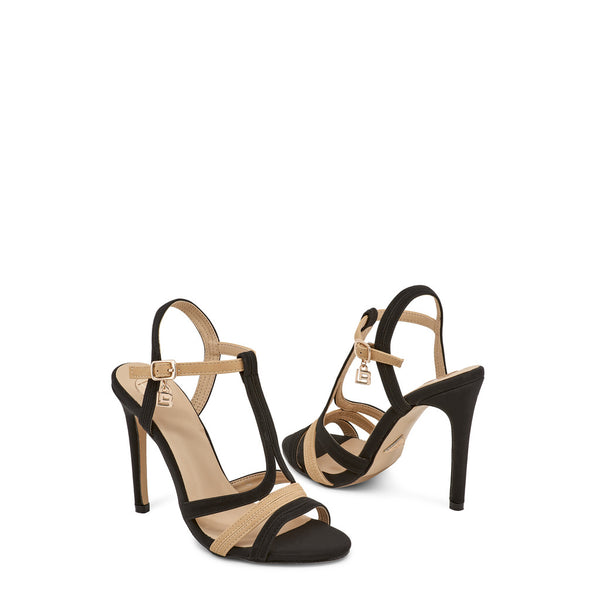 Laura Biagiotti Black Sandals 632_NABUK