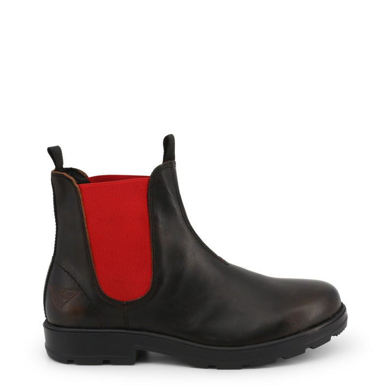 Docksteps Men's Ankle Boots Black and Red JASPER-60