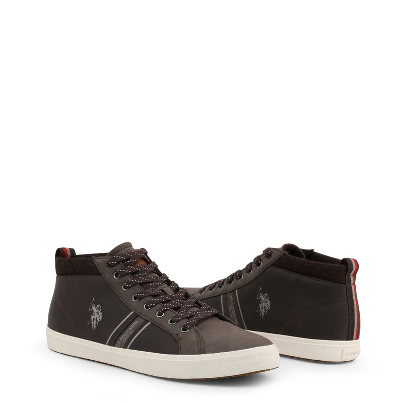 U.S. Polo Assn. Men's Trainers Brown WOUCK7147W9_Y1