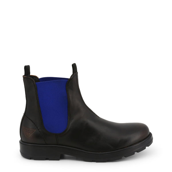 Docksteps Men's Ankle Boots Black and Blue JASPER-60