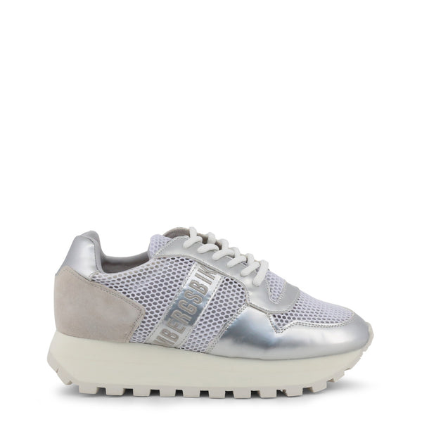 Bikkembergs Womens Trainers White FENDER-2087-MESH