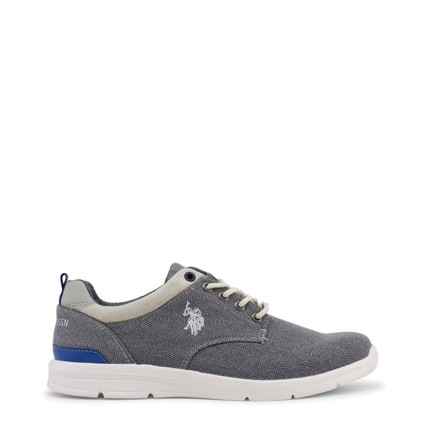 US Polo ASSN Mens Trainers Grey WALDO4004W7_C1