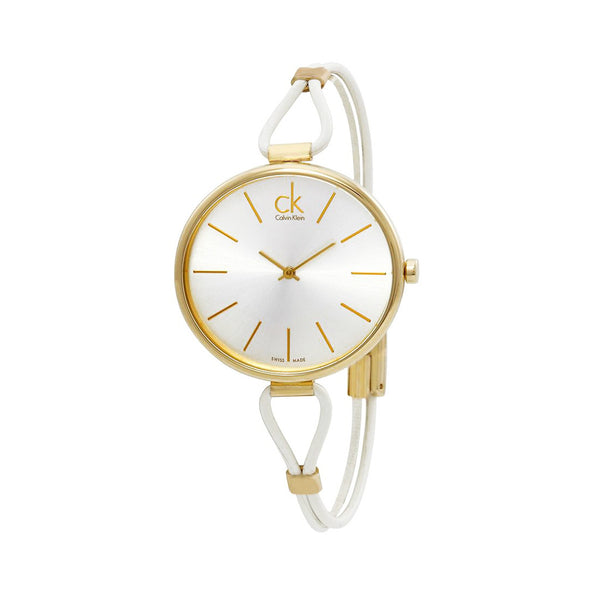 Calvin Klein Ladies White Gold Watch K3V235