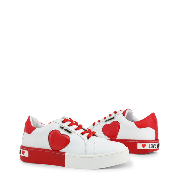 Love Moschino Women's Trainers White Red JA15023G1AIF