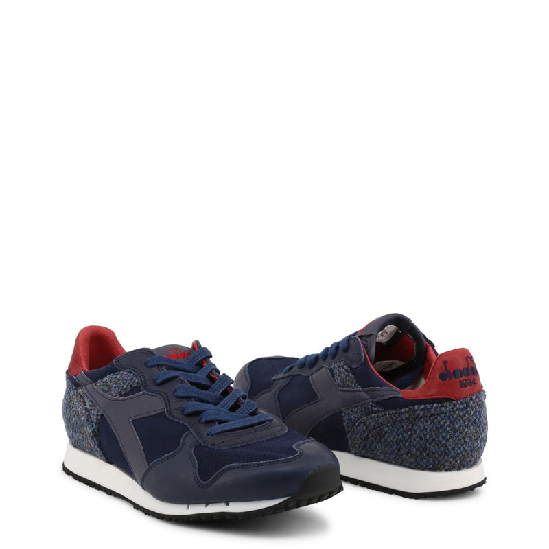 Diadora Heritage Blue Trainers TRIDENT TWEED PACK 60063