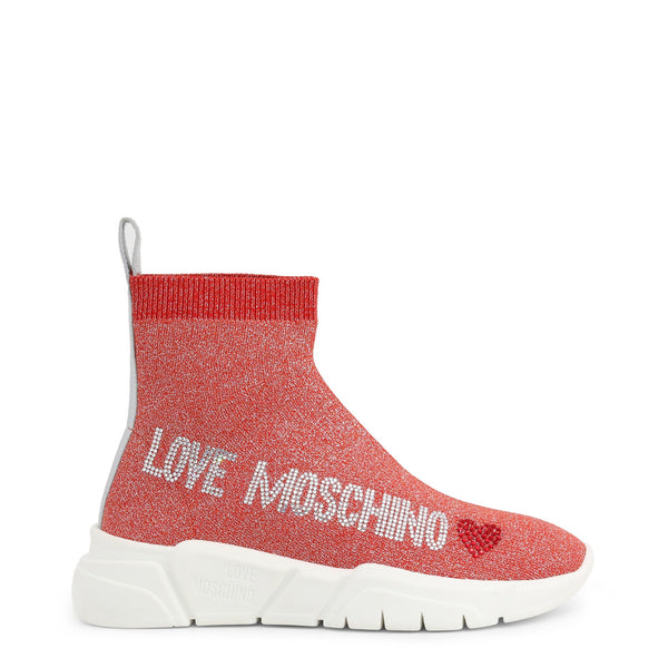 Love Moschino Women's Sock Trainers Red JA15103G1AIR