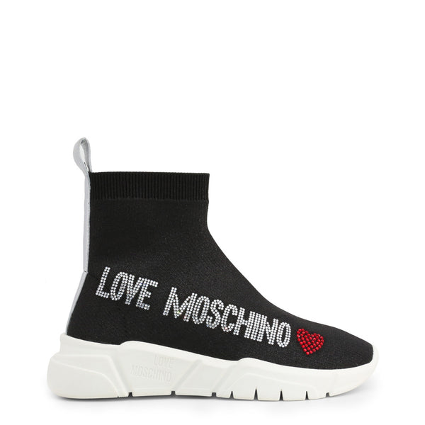 Love Moschino Women's Sock Trainers Black  JA15103G1AIR