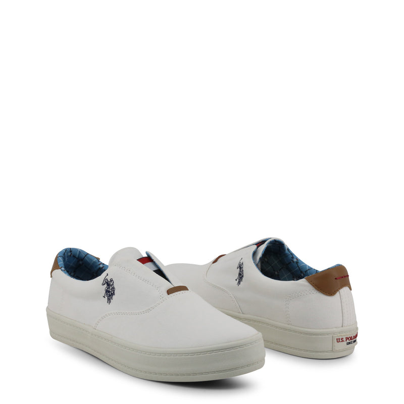 US Polo ASSN White Slip On Shoes GALAN4018S9_C1
