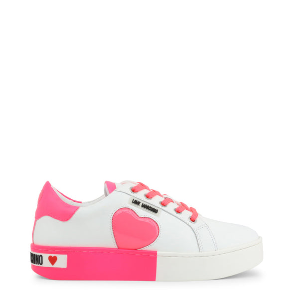 Love Moschino Women's Trainers White Pink JA15023G1AIF