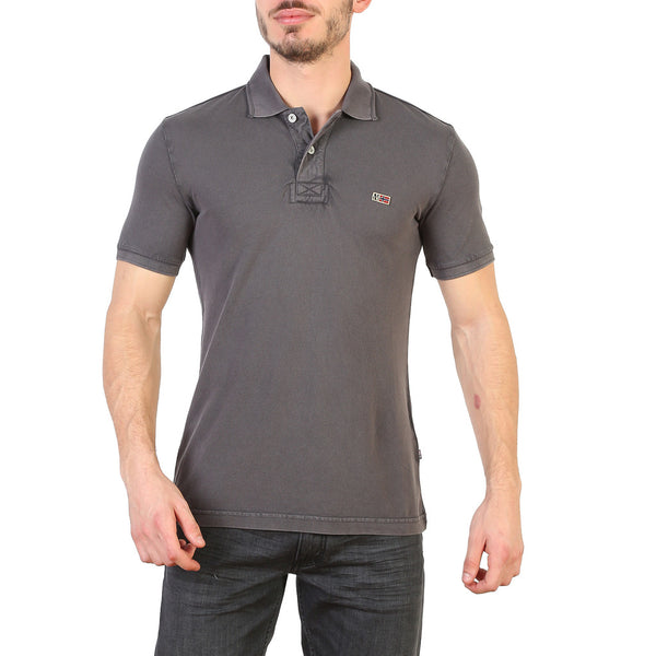 Napapijri Men's Polo Grey N0YHDX