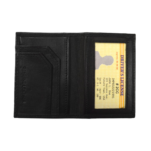 Læder Kort & ID Holder - Sort - Kortholder - Wallet Works - the-prince-webshop