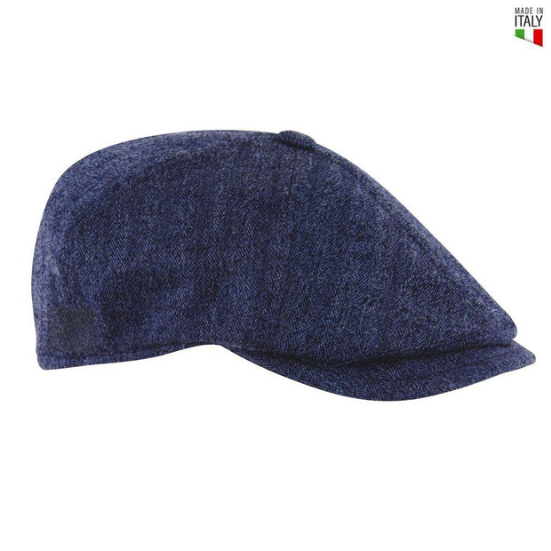 MJM Rebel Sixpence - Woolmix Blue-MJM Hats-Hat-The Prince Webshop