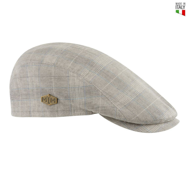MJM Young Flat Cap - Lt. Grey Check - Hat - MJM Hats - the-prince-webshop