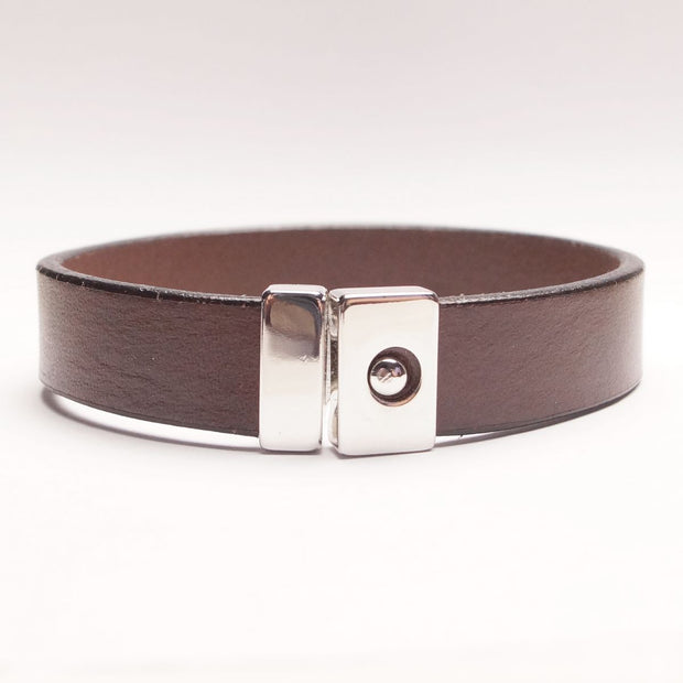 Enkelt Læder Armbånd -  Mørkebrunt - Smykke - The Leather Belt Co. - the-prince-webshop