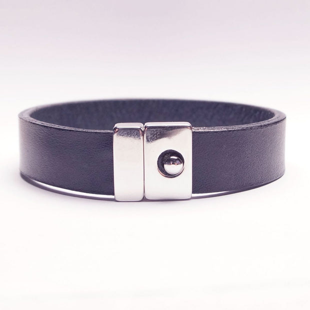 Enkelt Læder Armbånd - Marine - Smykke - The Leather Belt Co. - the-prince-webshop