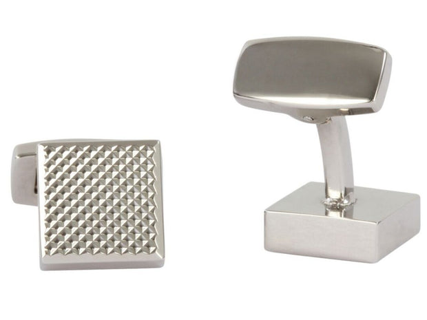 David Aster Square Chequered Cufflinks - Silver - Manchetknapper - David Aster Collection - the-prince-webshop