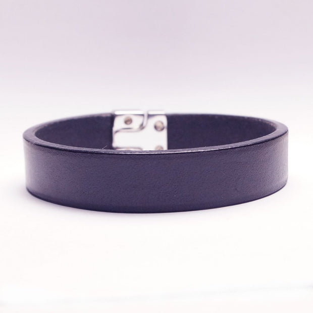 Enkelt Læder Armbånd - Marine-The Leather Belt Co.-Smykke-The Prince Webshop
