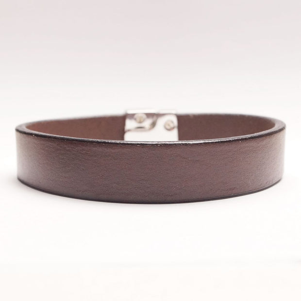 Enkelt Læder Armbånd - Mørkebrunt-The Leather Belt Co.-Smykke-The Prince Webshop