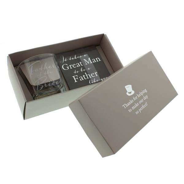 Father of the Bride Whisky Glass & Coaster Set - Gaveæske - The Prince's Own - the-prince-webshop