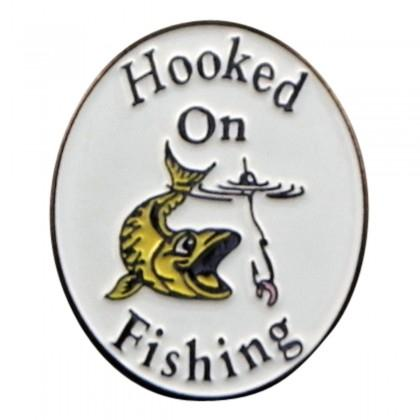 Hooked on Fishing  Pin - Reversnål - The Prince's Own - the-prince-webshop