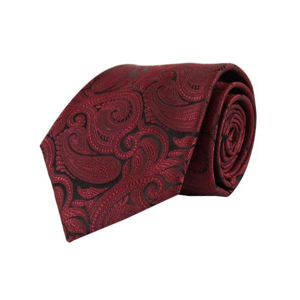 Klassisk Paisley Slips i Burgundy-Laurant Bennet Milano-Slips-The Prince Webshop